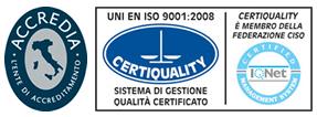 Azienda Certificata Sistema Gestione Qualità conforme alla norma UNI EN ISO 9001:2008 – Certiquality n° 8408